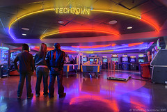 Ready For Some Fun Techtown (Stephen Harrison) Tags: friends boy woman ontario canada man game color colour male hockey girl horizontal architecture female youth standing fun person lights amusement stand video clothing cool saturated nikon colorful neon play floor adult bright display action interior room air ottawa flash group arcade machine style games screen clothes entertainment teen together teenager ddr casual leisure inside celing recreation colourful airhockey activity choices contemplate pasttime haunt grouped strobist techtown stephenharrison harrisonpictures