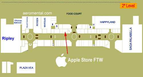 Mapa Apple Store Jockey Plaza