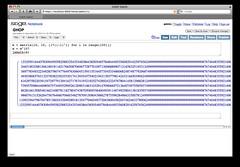 Large numbers (sagescreenshots) Tags: notebook screenshots sage visualization