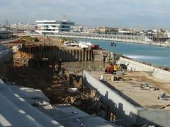 Preparación base del puente giratorio