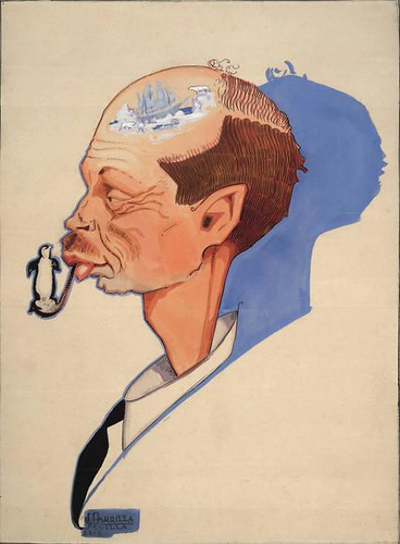 Caricature of Harald Ulrik Sverdrup
