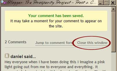 Closing the comment box