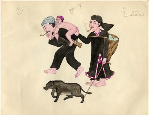 Tribes of Burma - Kwi (Lahu-Hsi) 1900