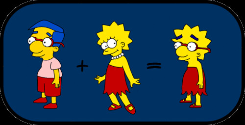 Milhouse and Lisa