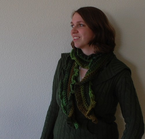 Green Tea scarf from Debbie Mumm Traditions