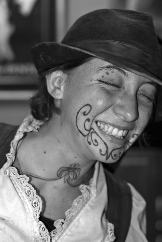 Katrina's Double Smile 2007 New Orleans tattooed girls girl chick Facial