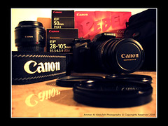 My Photography Equipment (Ammar Al-Abdullah) Tags: canon 50mm ii usm f18 ef 28105mm f3545 caonon 400d