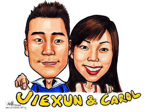 Caricatures couple colour 040208