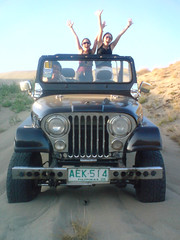 offroading on the sand dunes in La Paz
