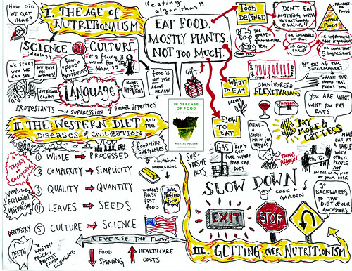 MINDMAP OF IN DEFENSE OF FOOD BY MICHAEL POLLAN