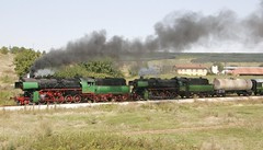 Bulgaria State Railways 2-10-0 steam locomotives 16 01 and 15 215 lead an excursion train, on the way to Lovech and Troyan, Bulgaria, August 24, 2006 (Ivan S. Abrams) Tags: arizona canon20d ivan eisenbahn trains bulgaria getty abrams railways rai trainspotting gettyimages railroads trens dampflok steamtrains smrgsbord tucsonarizona steampowered ferrovie chemindefer steampower steamlocomotives oldtrains railfans 12608 bdz railwayenthusiasts europeanrailways movingtrains onlythebestare internationalrailways bulgariastaterailways ivansabrams trainplanepro kostadinmihailov assenstoyanov pimacountyarizona safyan arizonabar preservedlocomotives arizonaphotographers railwayexcursions ivanabrams specialtrains cochisecountyarizona railroadexcursions railwaytouringcompany balkantrains balkanrailways locomotivesavapeur locomotivesavapore ferriovia restoredlocomotives trainsaroundtheworld tucson3985 gettyimagesandtheflickrcollection copyrightivansabramsallrightsreservedunauthorizeduseofthisimageisprohibited tucson3985gmailcom ivansafyanabrams arizonalawyers statebarofarizona californialawyers copyrightivansafyanabrams2009allrightsreservedunauthorizeduseprohibitedbylawpropertyofivansafyanabrams unauthorizeduseconstitutestheft thisphotographwasmadebyivansafyanabramswhoretainsallrightstheretoc2009ivansafyanabrams abramsandmcdanielinternationallawandeconomicdiplomacy ivansabramsarizonaattorney ivansabramsbauniversityofpittsburghjduniversityofpittsburghllmuniversityofarizonainternationallawyer