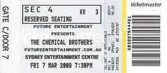 Chemical Brothers ticket