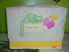 Capa máquina de costura (Renata ...) Tags: gato coração