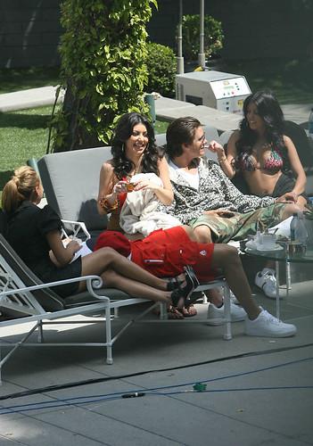 Robert Kardashian, Adrienne Bailon, Kim Kardashian, Scott Disick by jeffdenver.