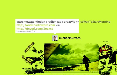 extremeWaterMotion+radiohead+greatVid=niceWayToStartMorning