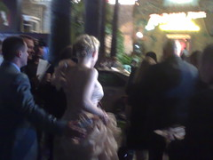 Cate Blanchett leaving opening party