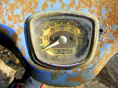 C100 (Lawrence Peregrine-Trousers) Tags: honda rust rusty speedometer corrosion patina c100 ffffffffff