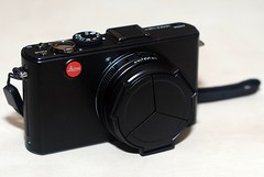 Day 135 - My new Leica D-Lux 4 with Ricoh lens cap (Candace Schwab) Tags: digitalcamera project365 anniversarypresent 365135 leicadlux4