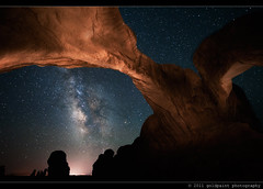 Silent Effigy (Goldpaint Photography) Tags: usa lightpainting rock dark stars landscape utah nationalpark sandstone arch desert natural nasa astrophotography valley moab astronomy nightsky geology archesnationalpark apod starrynight astronomypictureoftheday milkyway doublearch earthandspace moabvalley Astrometrydotnet:status=failed goldpaintphotography Astrometrydotnet:id=alpha20110563059148