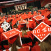 Sea of red mortar boards and gowns at the 2011 Spring Commencement in the RBC Center.