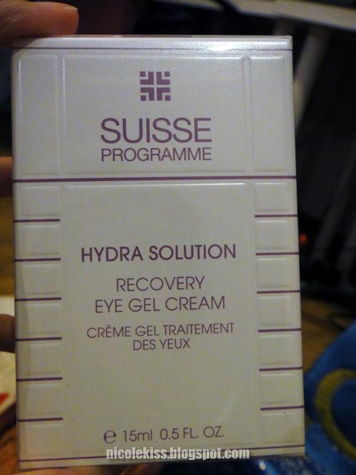 suisse programme hydra solution eye gel cream