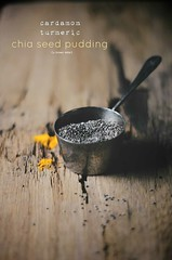 turmeric chia seeds (abrowntable) Tags: food recipe dessert vegan healthy indian spice pudding sugar vegetarian recipes turmeric rosewater almondmilk cardamom foodphotography abrowntable