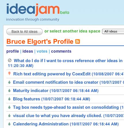 Idea Jam Profile - Votes