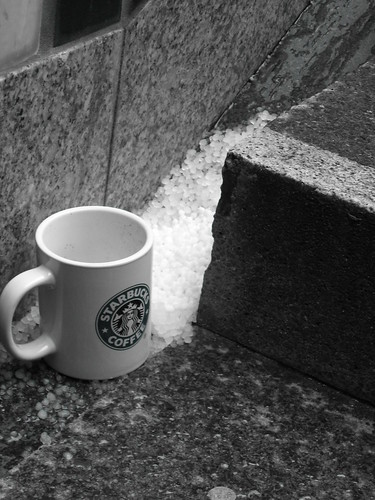 hail on the stolen Starbucks mug