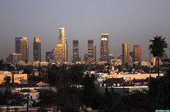 DowntownAtSunset (mcshots) Tags: california city autumn sunset sky urban usa skyline buildings lights losangeles downtown view skyscrapers images socal mcshots scenicsnotjustlandscapes