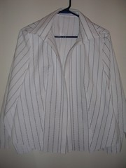 white striped shirt