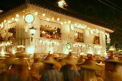 pista (Farl) Tags: street longexposure heritage valencia colors festival night fire lights dance philippines performance hats flame cebu lamps fest festivaloflights salakot carcar cebusugbo balaynatisa stacatalinast valenciaosmea