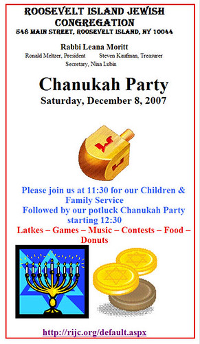RIJC - Chanukah Party 2007