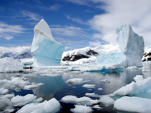 Iceberg Graveyard in Antarctica