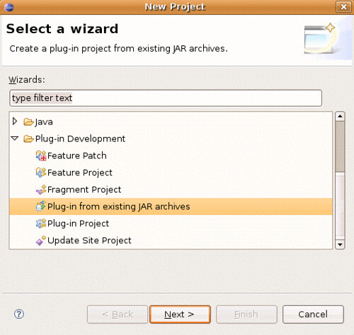 The New Project Wizard handles most of what we need.