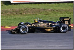Ayrton Senna JPS Lotus Renault 97T F1. Brands Hatch 1985 European GP. (Antsphoto) Tags: uk slr classic car speed 35mm honda one williams lotus britain champion grand f1 racing historic renault grandprix prix turbo mclaren formulaone formula hart british hatch canonae1 1980s motorsports formula1 senna gp brands groundeffects motorsport racingcar turbocharged autosport kodakfilm ayrton jps worldchampion ayrtonsenna blackgold carracing racingdriver toleman motoracing johnplayerspecial f1car formulaonecar mclarenhonda formula1car jpslotus tamron70210mm aytonsenna f1worldchampionship tg184 96t lotusrenault grandprixcar antsphoto canonae135mmslr sennalotus fiaformulaoneworldchampionship f1motoracing formula11980s anthonyfosh formula1turbo