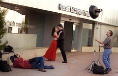 Behind the Scenes with Acme Photography (James A...) Tags: arizona portrait male female studio engagement couple photographer dress acme romance editorial scottsdale onlocation facebook nollmeyer ryanbrenizer x1600 beautydish strobist