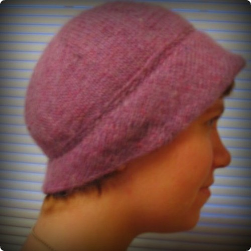 Millie Hat - assemetrical brim in back