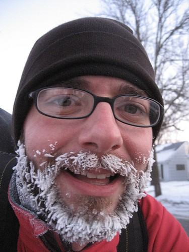 nanobikerdotcoms frozen facial insulation, via flickr