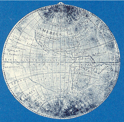 Sir Francis Drake silver medal map at the Library of Congress Rare Books Division