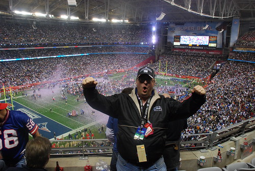 Me at Super Bowl XLII