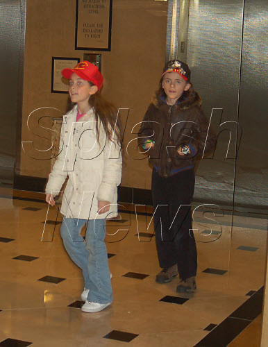 EXCLUSIVE: Michael Jackson and his children see the Ronn Lucas show at Luxor Casino