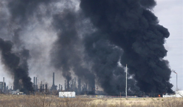 Texas Oil Refinery Explosion by thru this lens