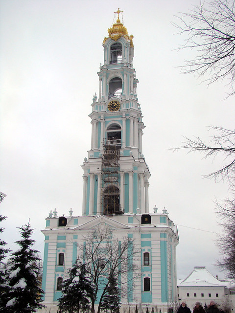 Bell tower. Sergiev posad, Russia
