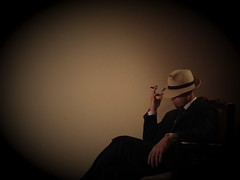 thinker (___Q___) Tags: portrait selfportrait black me self dark alone smoke sony think thinker cigar smoking suit solo thinking q godfather mafia beginner classy 3310474