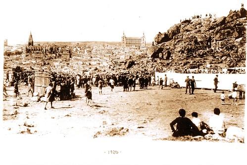 La romería del Valle hacia 1925. Fotografía de D. Pedro Román Martínez