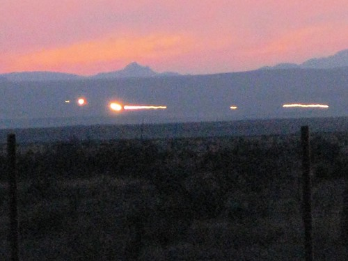 THe famous Marfa Lights in Marfa, Texas, USA