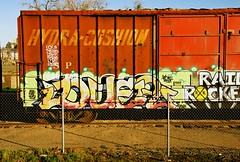 Duer / Suga (All Seeing) Tags: art graffiti trains tags sp suga duer graffitiart southernpacific freights paintedtrains rxr railart monikers lagraffiti freightgraffiti boxcarart railrockers