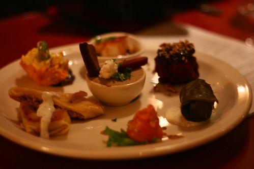 Appetizer tasting platter