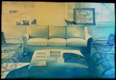 divano blu (Elanorya) Tags: 2002 book blu sala ombre terra acqua azzurro divano disegno scuola acquarello sfumature