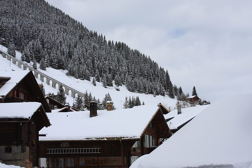 Snow clad Murren